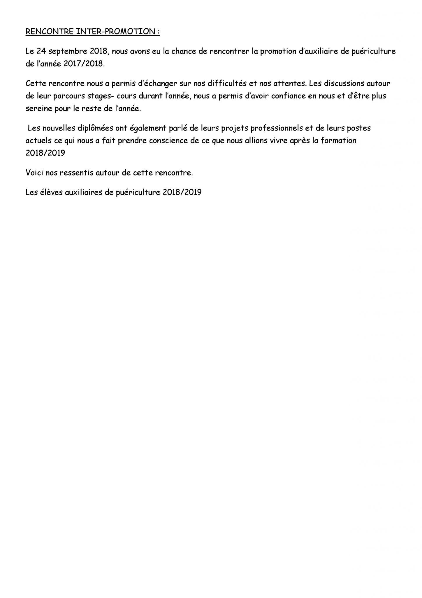 Auxiliaire De Puericulture Ap Lycee Polyvalent Henri Poincare